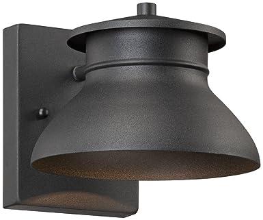 John Timberland Black 5 Inch H LED Outdoor Wall Light