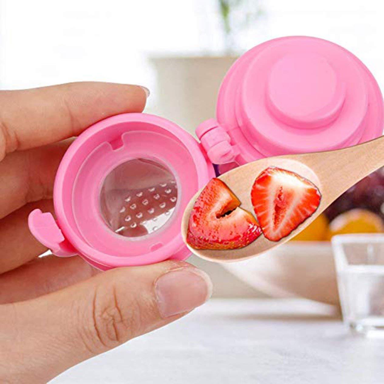 Rosa Baby Fruit Bite Bag Alimentador de fruta para beb/és Chupete Nutrici/ón para beb/és Masticaci/ón de frutas y verduras Fruta Mordida de comida M 29 mm