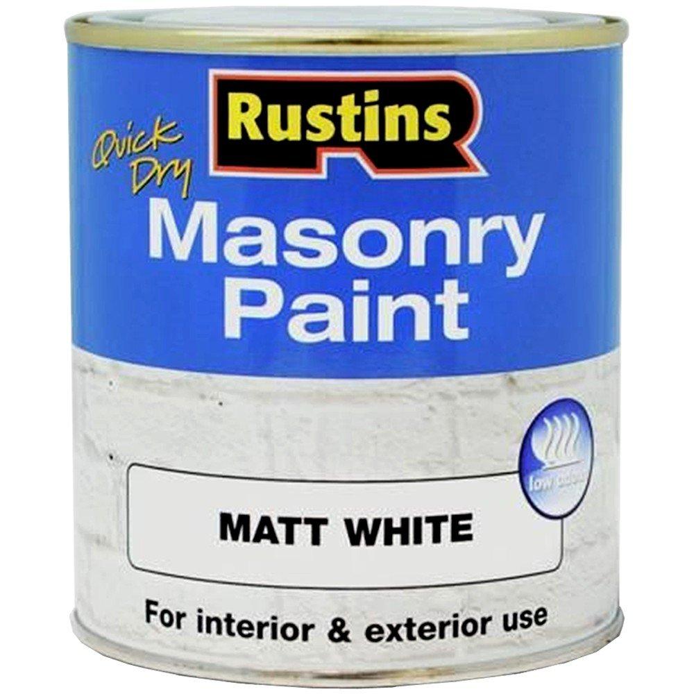 Rustins MASPW250 Masonry Paint White 250ml, 250