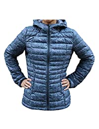 Paradox - Women's Packable Down Jacket with Hood - Purple/Grey