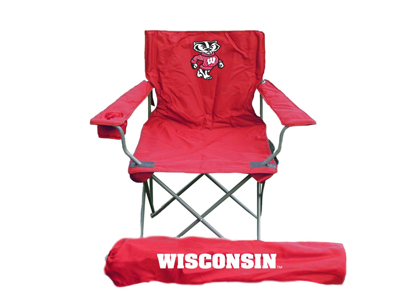 Rivalry NCAA Wisconsin Badgers Folding Chair With Bag
