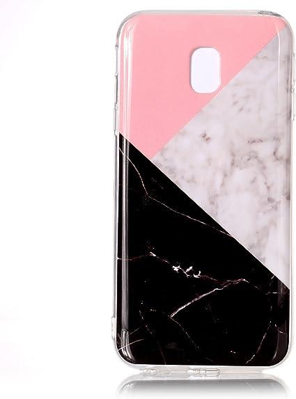 COZY HUT Coque Samsung Galaxy J3 2017, Marbre Motif Clair Bumper TPU Coque Souple en Caoutchouc Coque en Silicone Housse de Protection pour Samsung ...