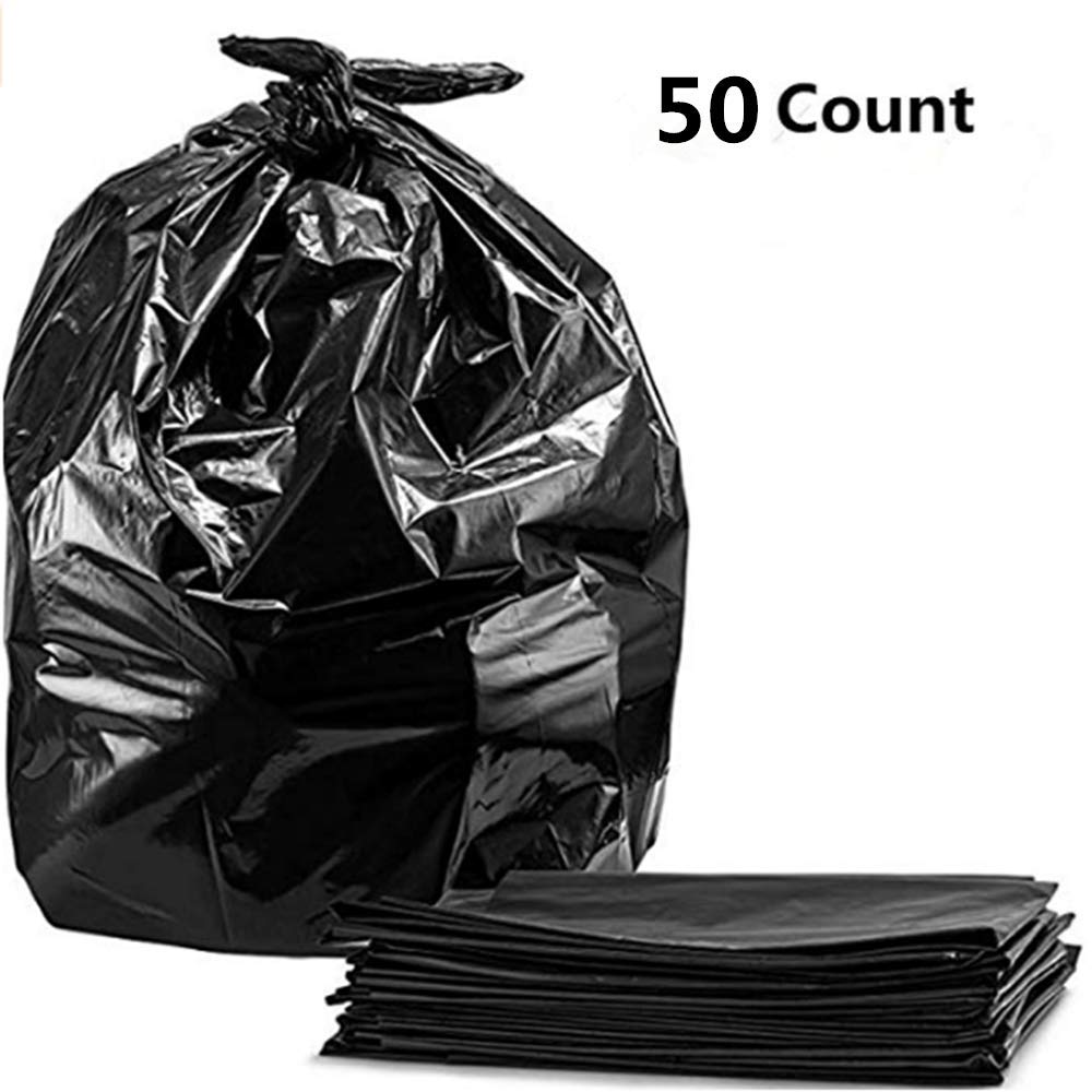 LAO SI JI Trash Bags, For 55-60 Gallon, Thickness:1.5 mil Size: 39 x 47 in (50 Count)