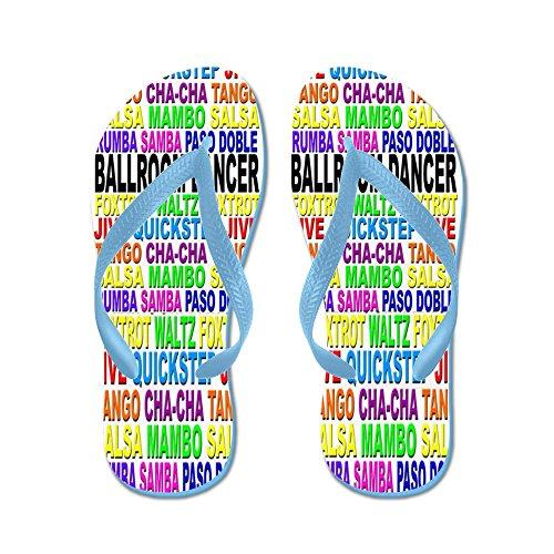 Cafepress Balsal Ord Flip Flops - Flip Flops, Roliga Rem Sandaler, Strand Sandaler Caribbean Blue