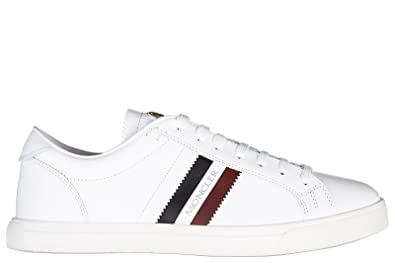 990a1d814 Moncler Men's Shoes Leather Trainers Sneakers la Monaco White UK ...