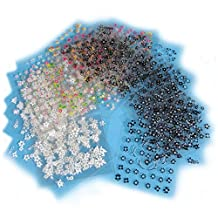 Coscelia 50Pc Sheets 3D Design Nail Art Sticker Tip Decal Manicure