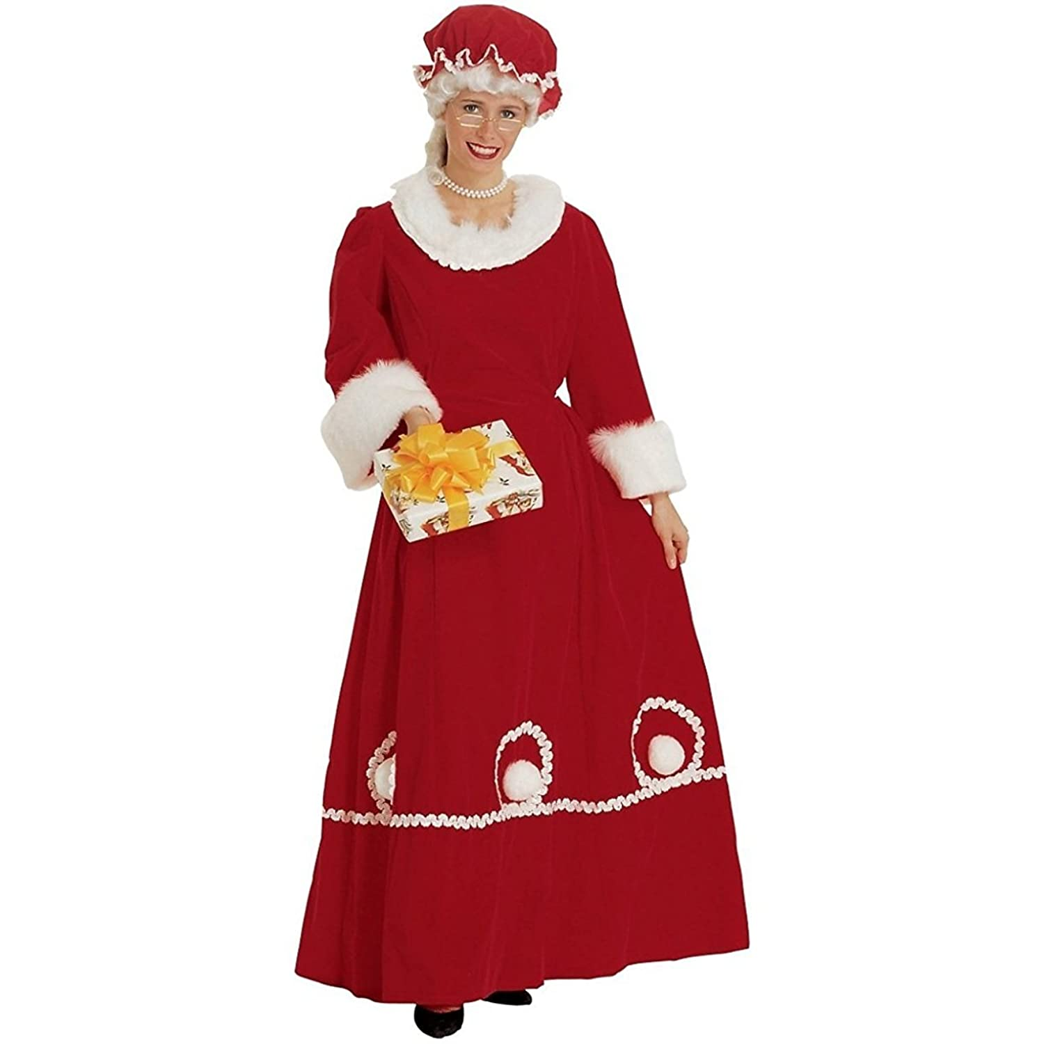 Mrs. Santa Claus Deluxe Adult Women's Costume Small/Medium - DeluxeAdultCostumes.com