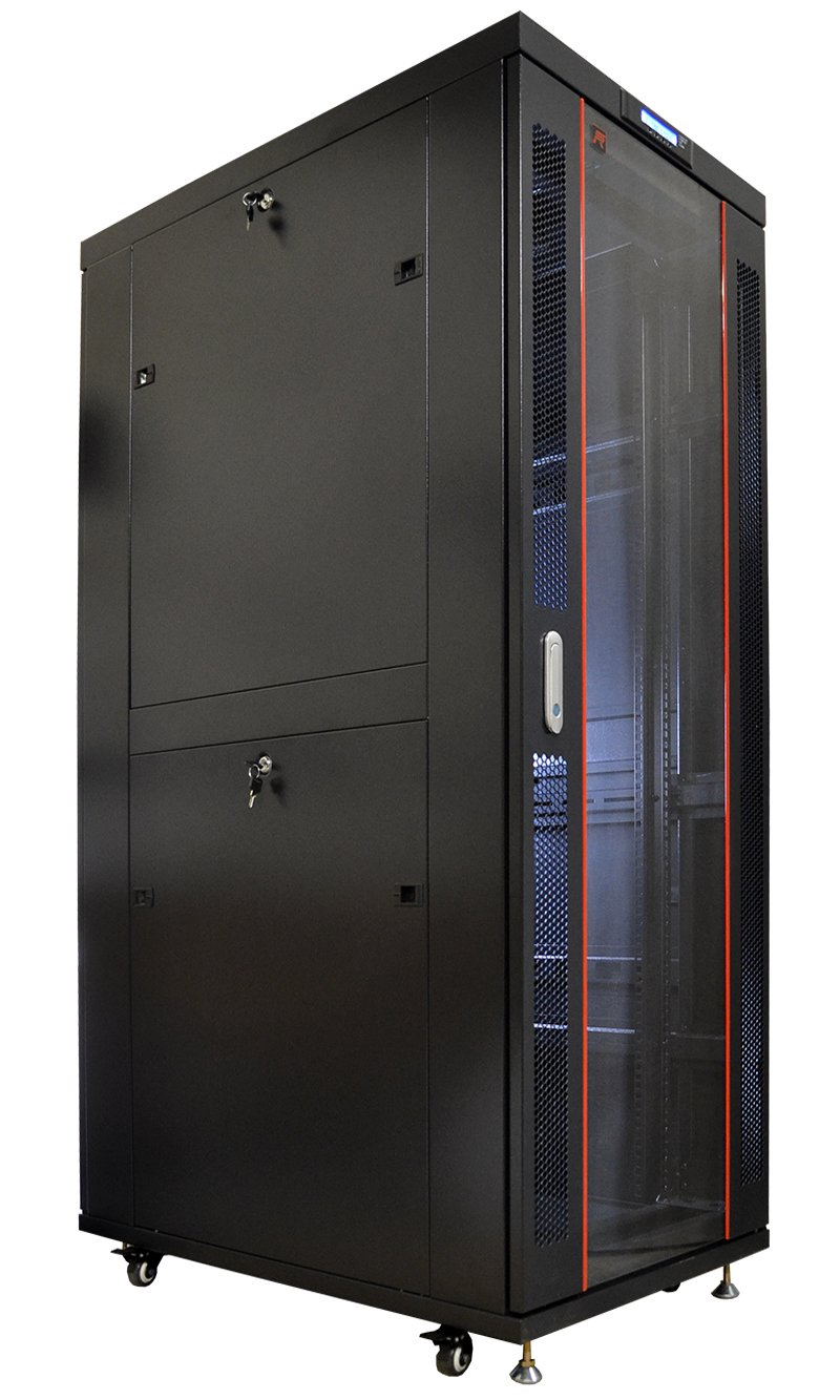 Sysracks 42U Sysracks IT Network Data Server Rack Cabinet Enclosure 39' Depth Free Bonus $250 Value Shelf, Thermo System, PDU, Coolinf Fans