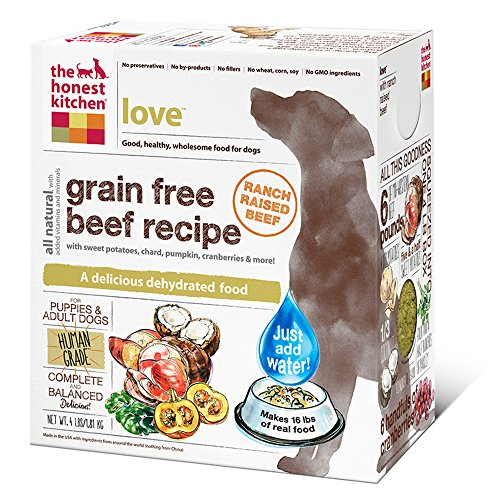 The Honest Kitchen Grain Free Beef Dog Food Recipe, 4lb box