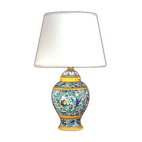 Tavoli Da Giardino Ceramica Caltagirone.Lume In Ceramica Di Caltagirone Decorato A Mano Lampada Da Tavolo