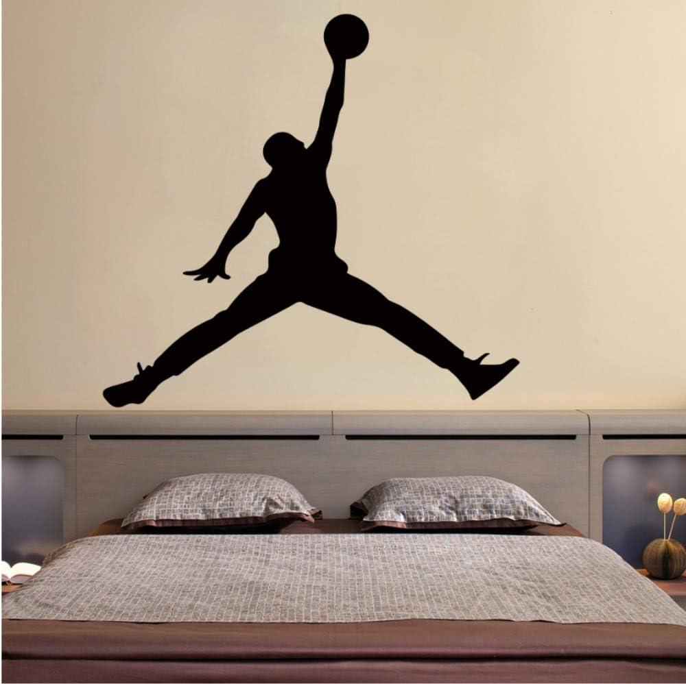 YLGG Jordan Baloncesto Vinilo Etiqueta De La Pared Wallpaper para  Habitaciones De Los Niños Dormitorio Decoración Mural Gym Habitación  Decoración