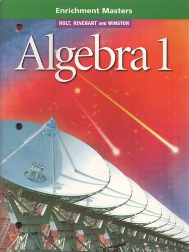ALGEBRA 1: Enrichment Masters ebook