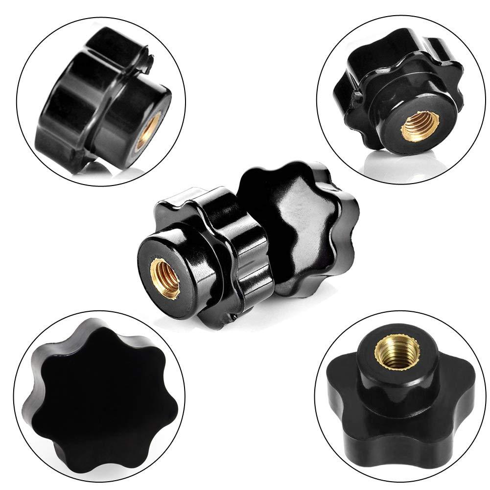 Black Shell Replacement Plastic 8mm Female Thread Dia Star Knob
