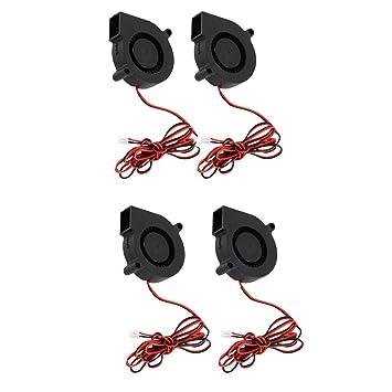 4pcs Ventilador Silencioso Radial DC 24V Accesorios de Impresora ...