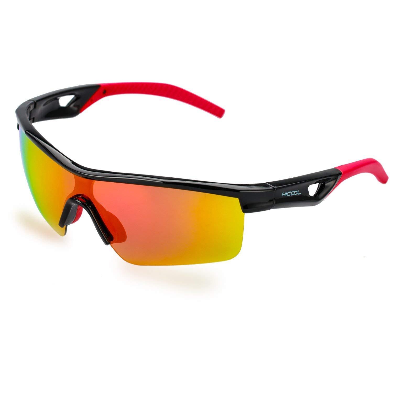 HiCool Kids Polarized Sunglasses, Kids Sports Sunglasses Polarized Glasses for Boys Girls Childs Cycling Running Hiking Traveling