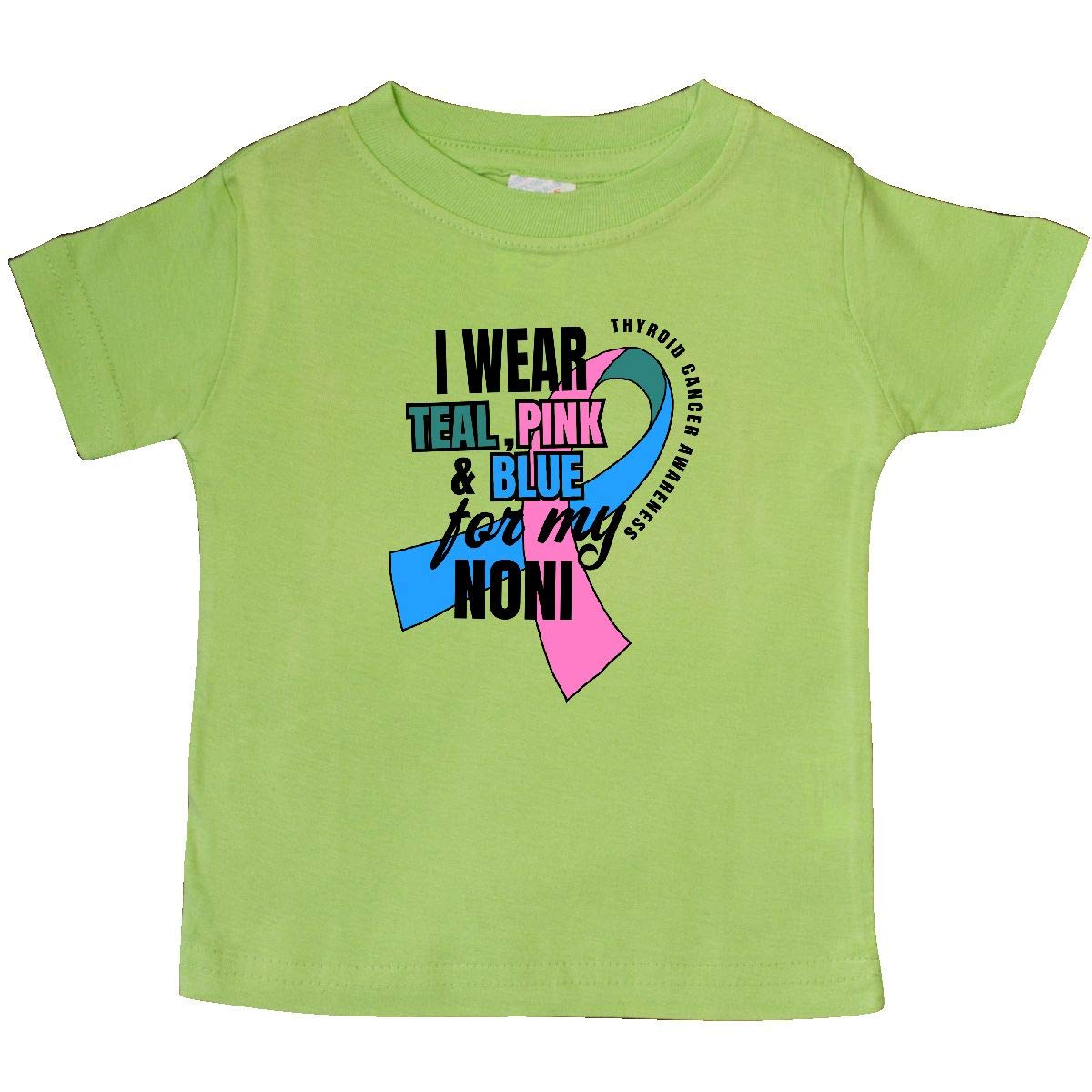 inktastic I Wear Teal Pink and Blue for My Noni Baby T-Shirt