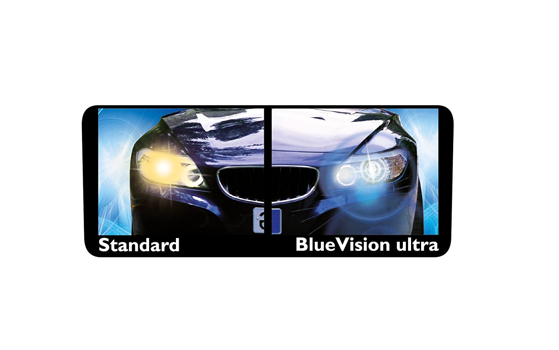 Philips BlueVision Ultra - Bombilla H4 para faros delanteros, 2 unidades: Amazon.es: Oficina y papelería