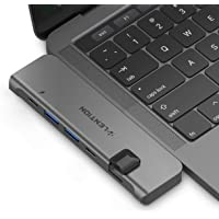 LENTION Portable USB-C Adapter with 40Gbps Data, 100W Power Delivery, 4K HDMI, USB 3.0, Type C, Gigabit Ethernet Compatible 2019 2018 MacBook Air, 2019-2016 MacBook Pro (Thunderbolt 3) - Space Gray