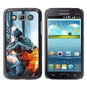Stuss Case / Funda Carcasa protectora - BATTLEFILD SOLDADO - Samsung Galaxy Win I8550