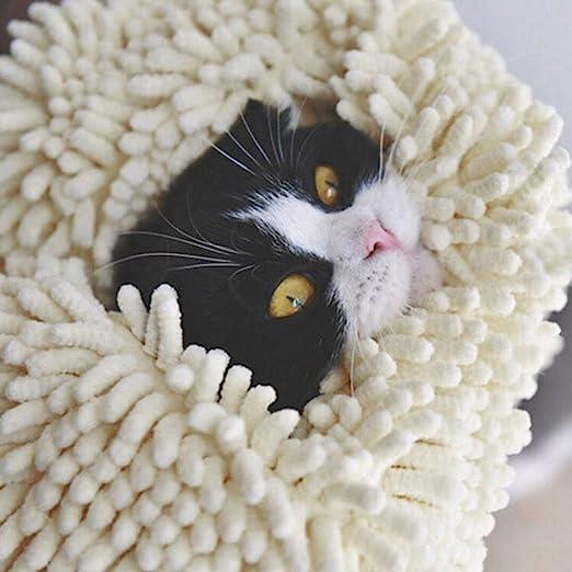 ydj Verdickte superabsor bierende Micro Fiber Mascotas Gatos/Perros Toalla Bolso, Duradero, Secado rápido, Lavable, Evitar Suciedad: Amazon.es: Productos para mascotas