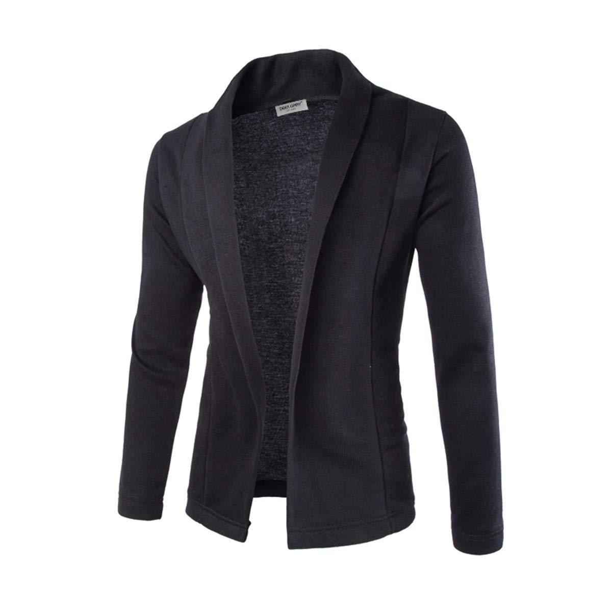 maduang Men's Elegant Slim Fit Cardigan Coat V-Neck Long Sleeve Knitwear Jacket