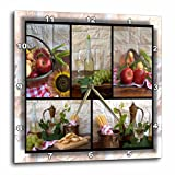 3dRose dpp_28849_2 Wine and Fruit Collage Wall Clock, 13 by 13-Inch Review