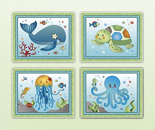 Sweet Ocean Dreams. Nursery Wall Art Print Collection (11