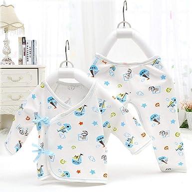 Wunked Recién Nacido Pijama Bebés Algodón Niñas Niños Peleles Sleepsuit 2 Piezas Cute bebé Pelele 0