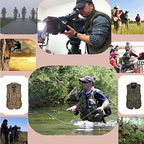 De Xxxxl 5 À Choix Taille Maille En Séchage Pêche Rapide Multi Gilet Kaki Photographie poches Camouflage ZnqEUE