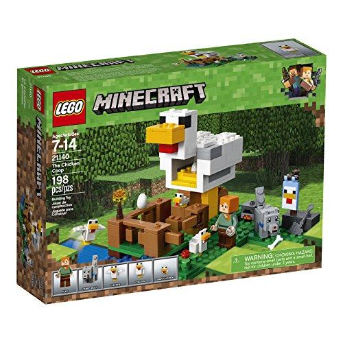 61Qt9Da9RXL - LEGO Minecraft The Chicken Coop 21140 Building Kit (198 Pieces)