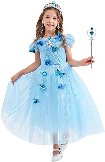 Girl Girls Cinderella Princess Style Book Day Fancy Dress Costume Various Sizes