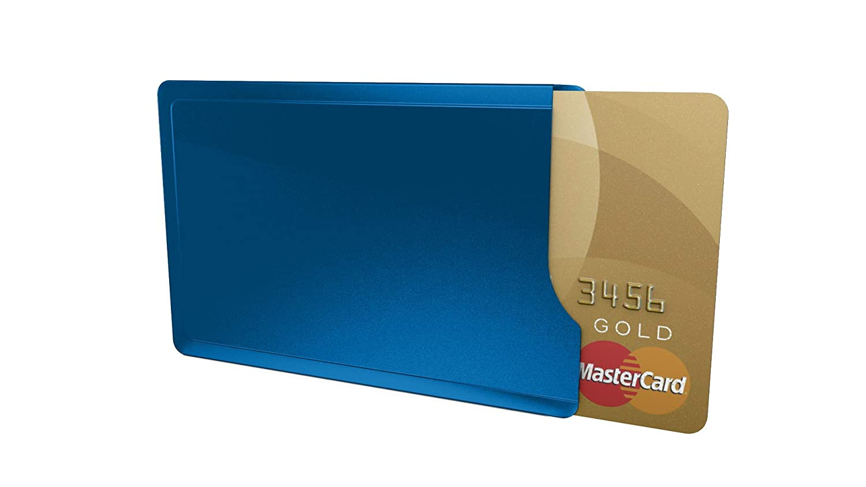 Kartenschutzhülle CardTresor Casual Edelstahl, signalblau, RFID/NFC-Schutz EC009B