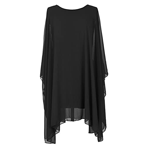 Sevello Clothing Chiffon Kaftan Oversized, Relaxed Loose Drape Tunic Top Dress sizes 14-22