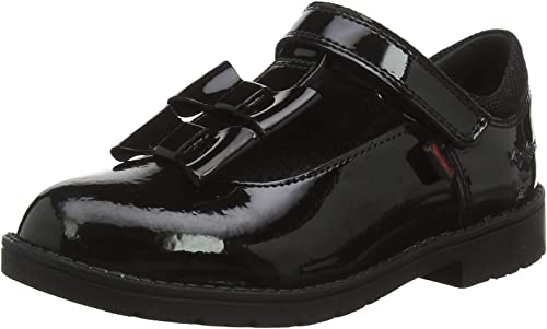 Kickers Girls Lachly Bow Strap Black