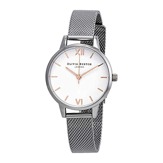 Olivia Burton Reloj Analógico para Mujer de Cuarzo con Correa en Acero Inoxidable OB16MDW22: Amazon.es: Relojes