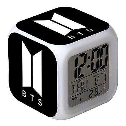 Amazon.com: Youyouchard BTS Wake Up Alarm Clock Digital LED ...