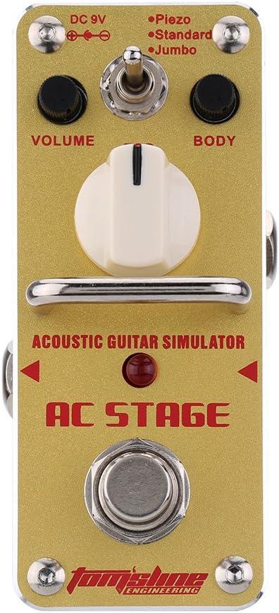 ammoon AROMA AAS-3 AC Etapas Simulador de Guitarra Acústica Mini Solo de la Guitarra Eléctrica Pedal de Efecto con True Bypass