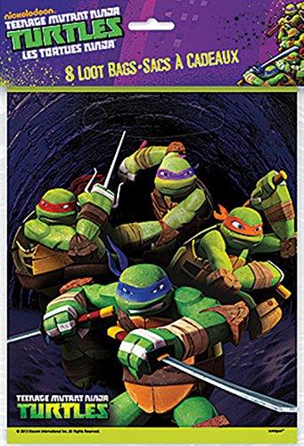 [Teenage Mutant Ninja Turtles Loot Bags] (Nickelodeon Teenage Mutant Ninja Turtles Treat Bags)