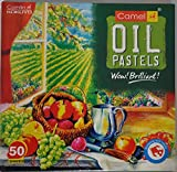 Camel Camlin Kokuyo Oil Pastel Crayons Color Assorted Colours 50 Shades by Camel