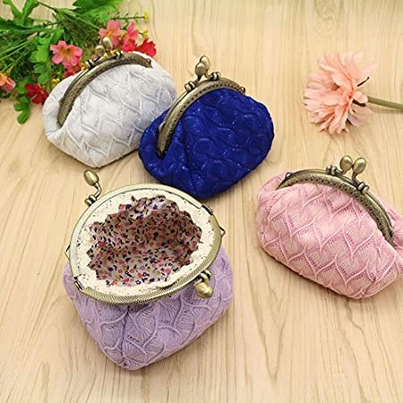 Amazon.com: Aland Women Vintage Woolen Yarn Knitted Coin ...