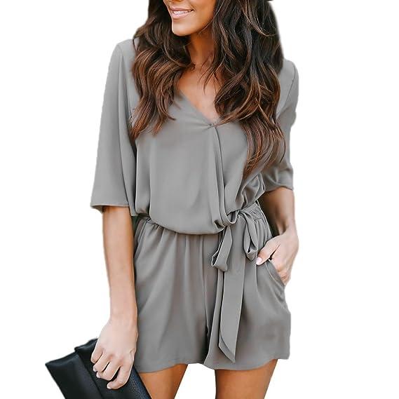 53914bbec201 Amazon.com  Clearance Sale!Kshion Fashion Women s Siamese V-Neck ...
