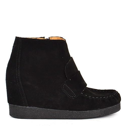 Zapatos 40 Negro Eu Amazon De Ante Mujer Alza Fact Arte Con Adam EvzwREq8