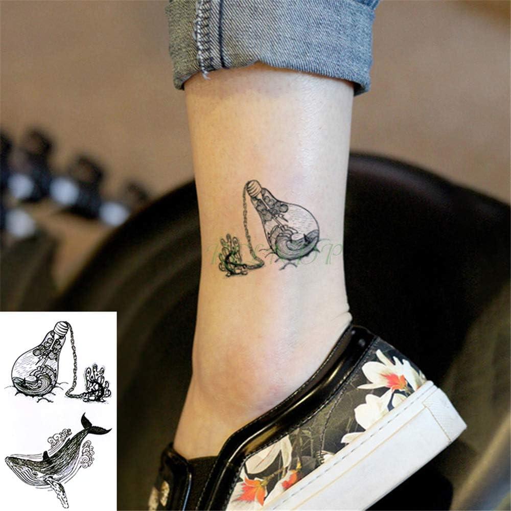 tzxdbh 5 Piezas Impermeables Tatuajes temporales del Tatuaje de la ...