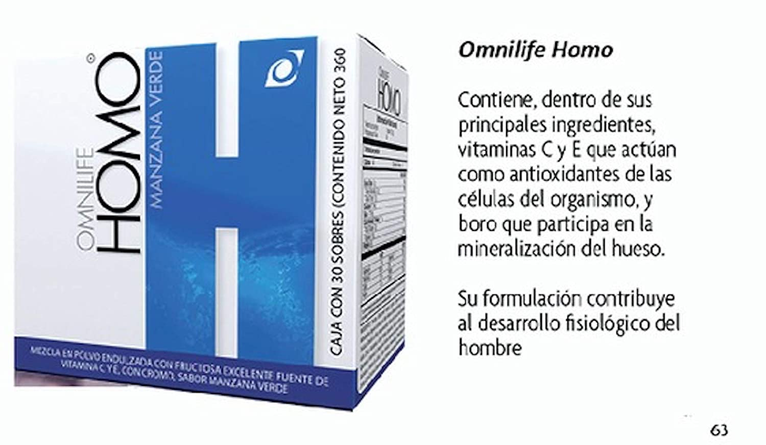 Amazon.com: Omnilife HOM Oml Plus Homo Men Hombre, Box with 30 Sachets (180G), Shipped by Liss: Health & Personal Care