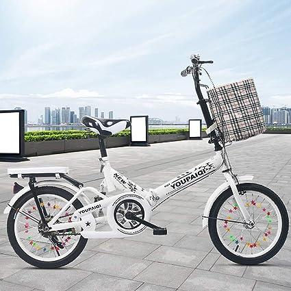 DT El Nuevo Azul Blanco Plegable Bicicleta amortiguación Infantil 16 Pulgadas 7-8-10