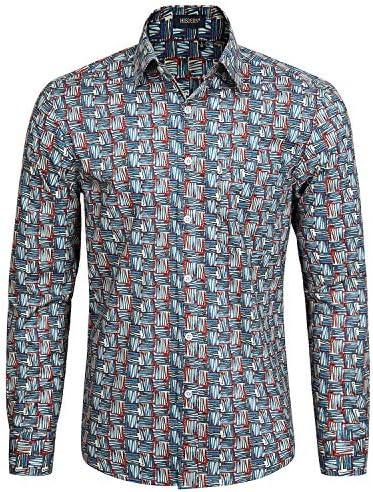シャツ メンズ 長袖 綿 アロハシャツ おしゃれ 花柄 和柄 カジュアル コットン トップス 秋服 ハワイアン 結婚式 大きいサイズ M~XL