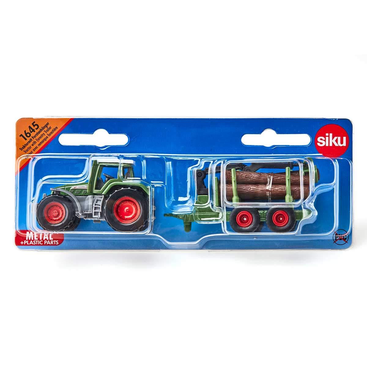 SIKU 1645 Colores Surtidos Tractor con Remolque Forestal