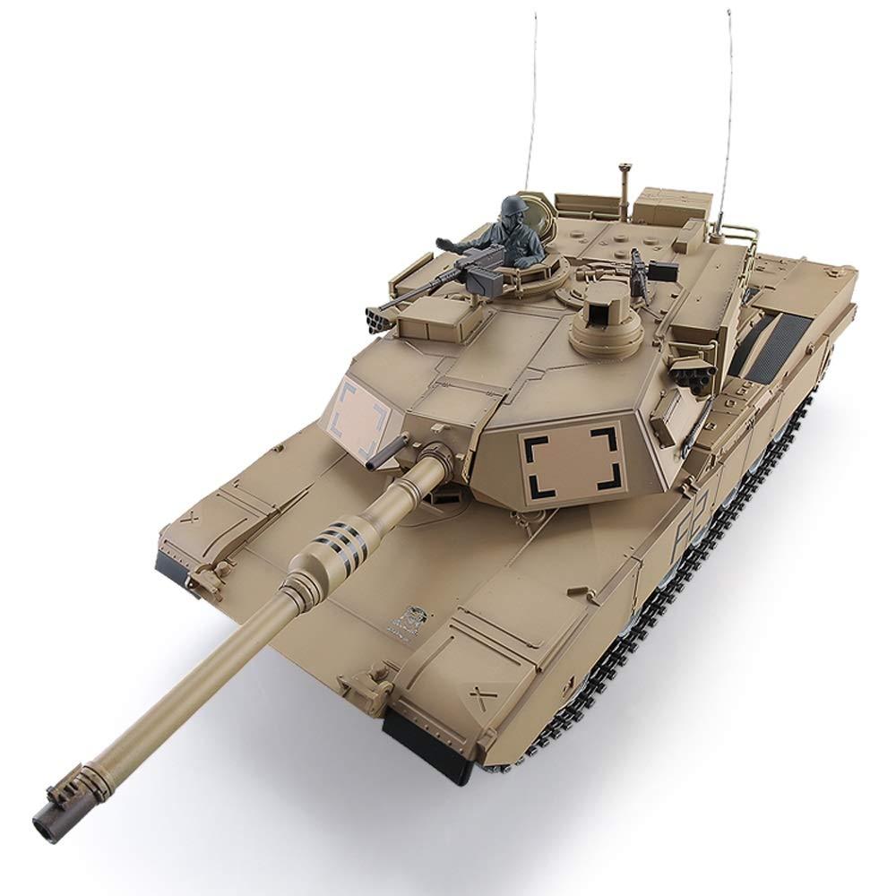 Pinjeer M1A2リモートコントロールタンクメタル大人の大人充電の戦いおもちゃの車のタンクモデルの男の子のおもちゃ子供のための教育用誕生日プレゼント12歳以上 (Color : Plastic, サイズ : 2-Battery) B07R9Z3CF9 Metal 3-Battery 3-Battery|Metal