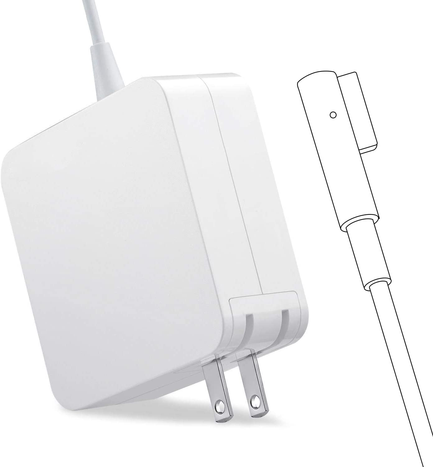 Mac Book pro Charger, AC 85w Magnetic L-Tip Power Adapter Replacement for MacBook Pro-13/15/17 Inch (Before 2012)