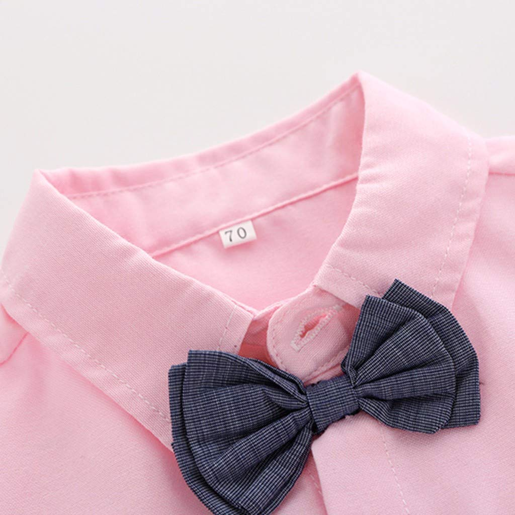 Overalls Shorts Pants Wedding Party Formal Outfit Set Zerototens Boys Clothing Set,0-4 Years Old Toddler Baby Boys Gentleman Suit Bow Tie Lapel Shirt Tops